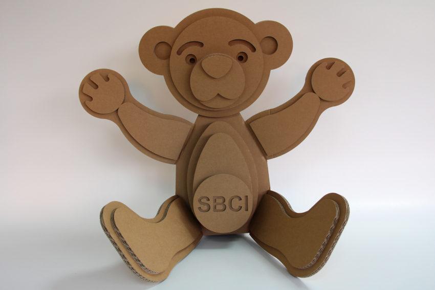Ourson en carton SBCI