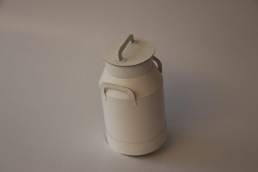 Bidon de lait en carton