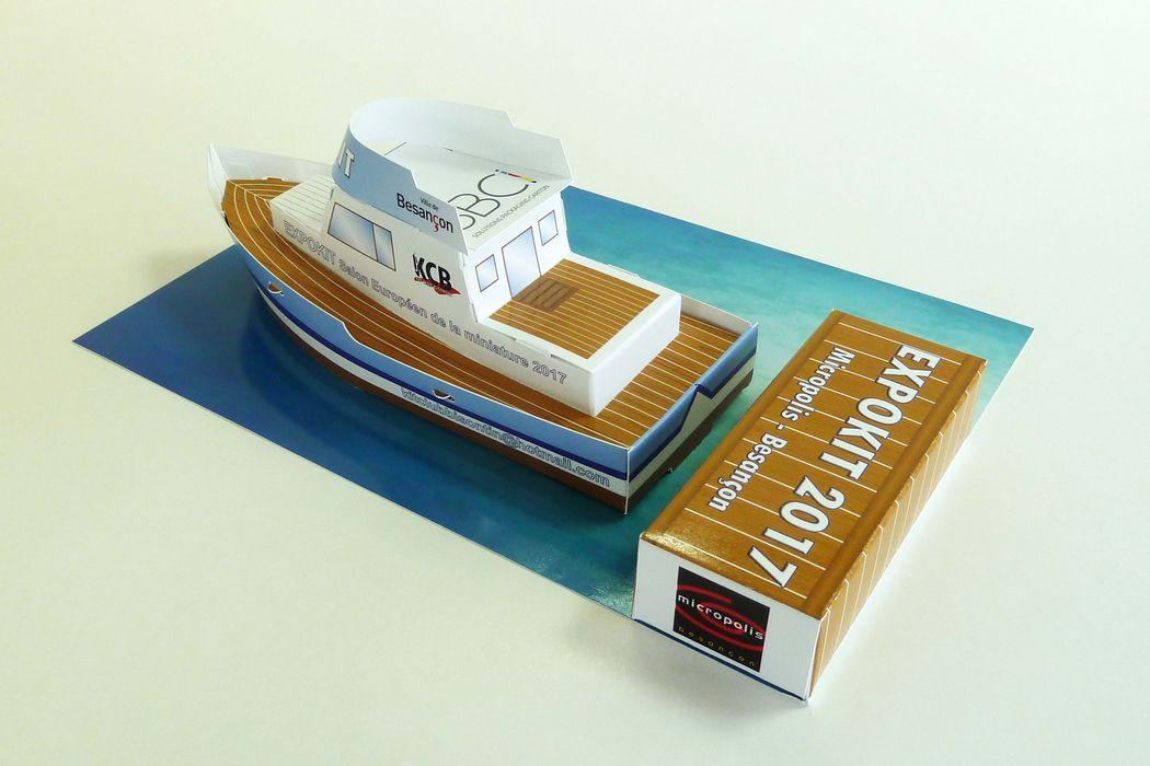 SBCI conçoit et réalise la miniature d'un bateau type «trawler» pour EXPOKIT: le salon européen de la miniature 2017