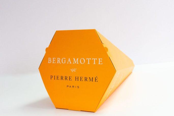 Packaging conique kraft personnalisé Pierre Hermé x Bergamotte